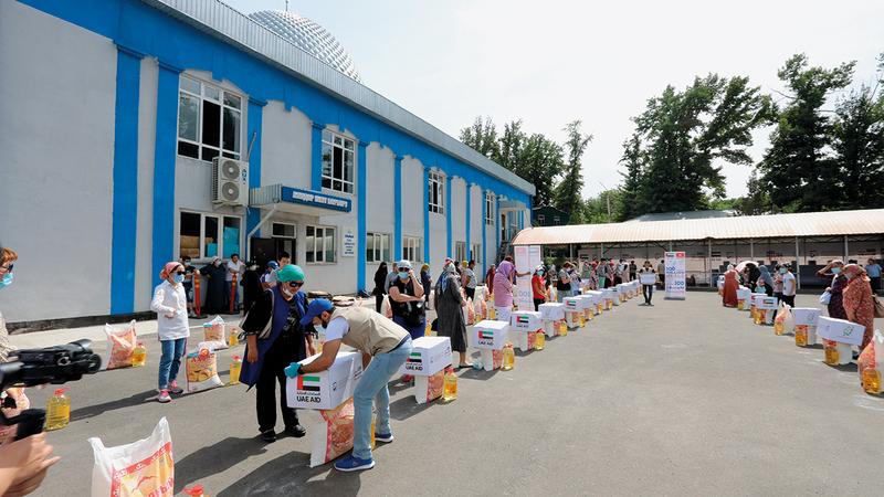 الحملة قدمت طروداً غذائية تضمن سهولة التخزين.   من المصدر