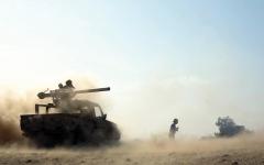 الصورة: الجيش اليمني يُفشل 50 هجوماً حوثياً على 11 جبهة في مأرب