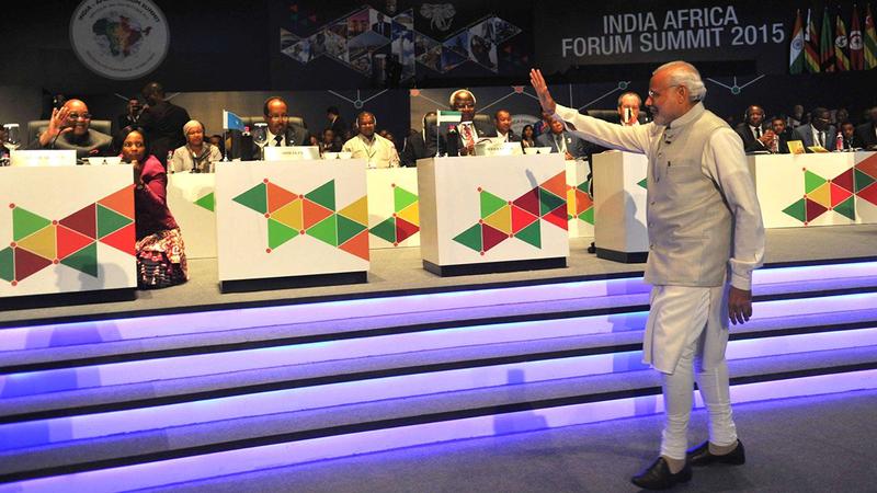 ناريندرا مودي حدد 10 مباديء لاستثمار الهند في افريقيا.  ارشيفية