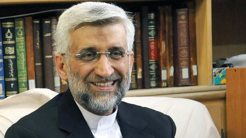 جليلي يُعتقد أنه مرشح لمنصب وزارة الخارجية.   أرشيفية