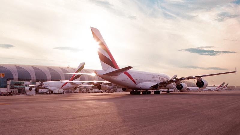 «الناقلة» تستعد للتعامل مع 450 ألف مسافر من دبي وإليها على متن 1600 رحلة.   أرشيفية