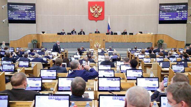 من المرجح أن يحقق حزب روسيا الموحدة الأغلبية في مجلس الدوما الروسي على الرغم من سمعته السيئة.  أ.ب