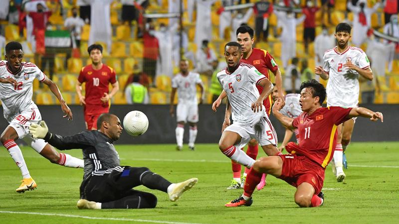 المنتخب تأهل بجدارة إلى الدور النهائي في تصفيات المونديال.  تصوير: أسامة أبوغانم