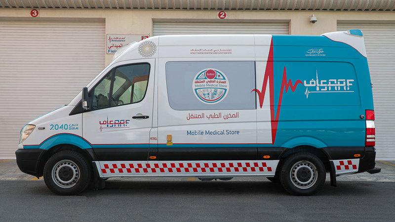 تجديد سيارات إسعاف قديمة لتصبح مخازن أدوية متنقلة.   من المصدر