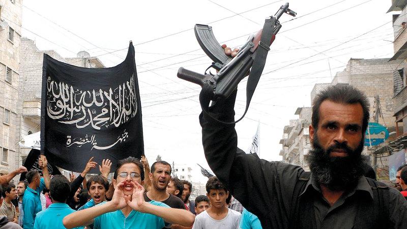 عناصر «جبهة النصرة» يتلقون التدريب في تركيا.  أرشيفية