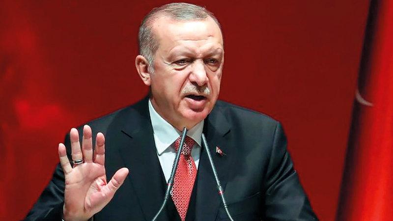 أردوغان يزعم عدم دعم الإسلاميين في سورية.  أرشيفية