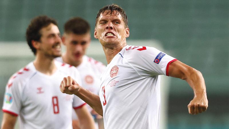 يانيك فيستغارد من أبرز لاعبي الدنمارك.   أ.ب