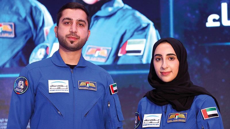 محمد الملا ونورا المطروشي.   من المصدر