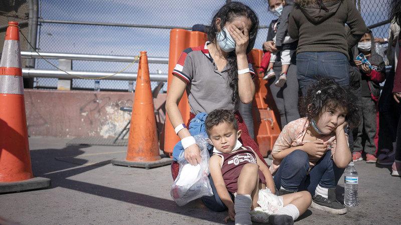 بيرازا وأطفالها على الحدود.  أرشيفية
