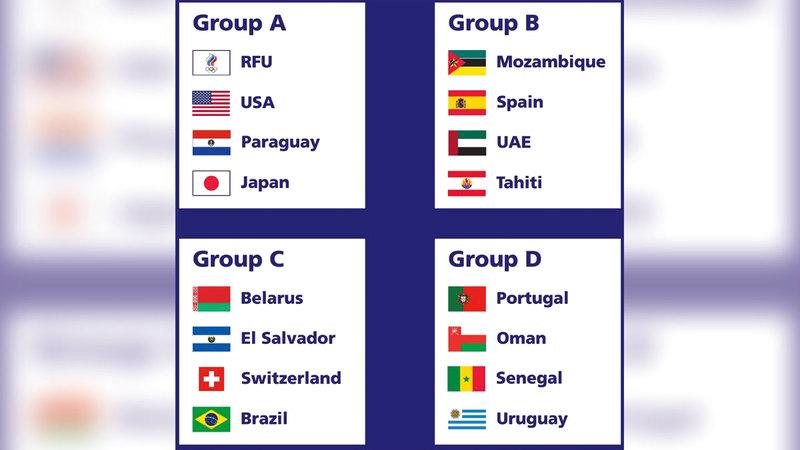 المجموعات الـ 4 في مونديال روسيا للكرة الشاطئية.  من المصدر