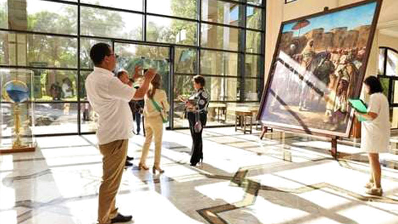المعرض افتتح بـ«متحف محمد السادس للفن المعاصر» بالرباط ويستمر حتى التاسع من أكتوبر المقبل.  أرشيفية