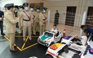الصورة: قائد شرطة دبي يفتتح القرية المرورية في المرقبات