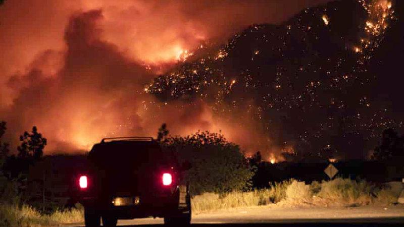 حرائق غابات في كولومبيا بسبب ارتفاع درجات الحرارة.  رويترز
