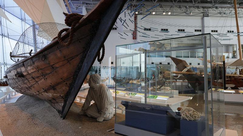 تم افتتاح متحف الشارقة البحري للمرة الأولى في منطقة التراث عام 2003. À وام