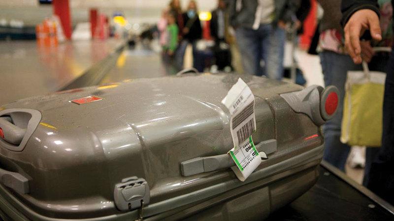 يمكن للمسافر الحصول على خصم في سعر الأوزان الإضافية يصل إلى 30% عند الحجز عبر الإنترنت.  أرشيفية