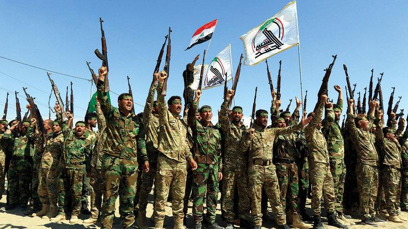 قوات الحشد الشعبي تحظى بدعم إيران مباشرة.   إي.بي.إيه