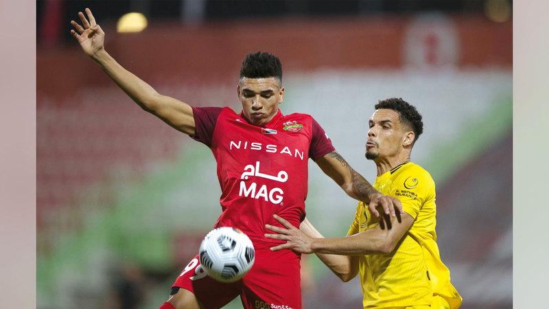 إيغور خيسوس سجل 11 هدفاً لشباب الأهلي في الدوري بالموسم المنصرم.  تصوير: أسامة أبوغانم