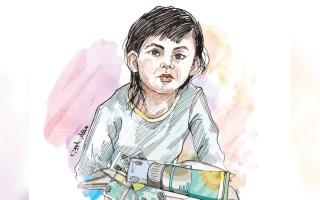 الصورة: الطفلة «فرح» تحتاج إلى عملية جراحية بـ 15.7 ألف درهم