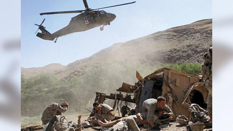 الانسحاب الأميركي سيترك أفغانستان مكشوفة.  أ.ب