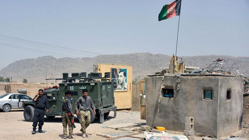 قوات الأمن الأفغانية عاجزة عن حماية شعبها خلال المرحلة المقبلة. رويترز