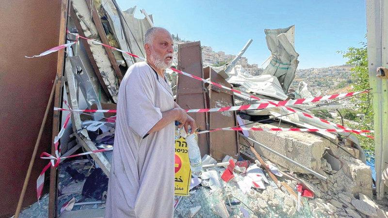 الاحتلال هدم منشأة نضال الرجبي في حي البستان.    الإمارات اليوم