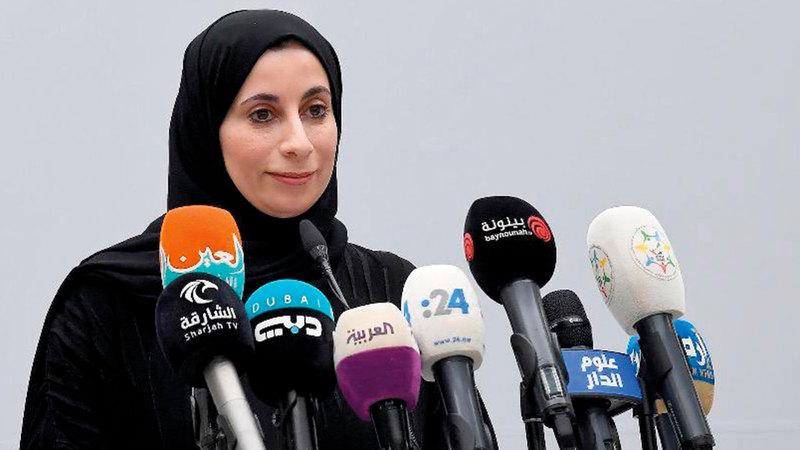 المتحدث الرسمي عن القطاع الصحي في الدولة: الدكتورة فريدة الحوسني.