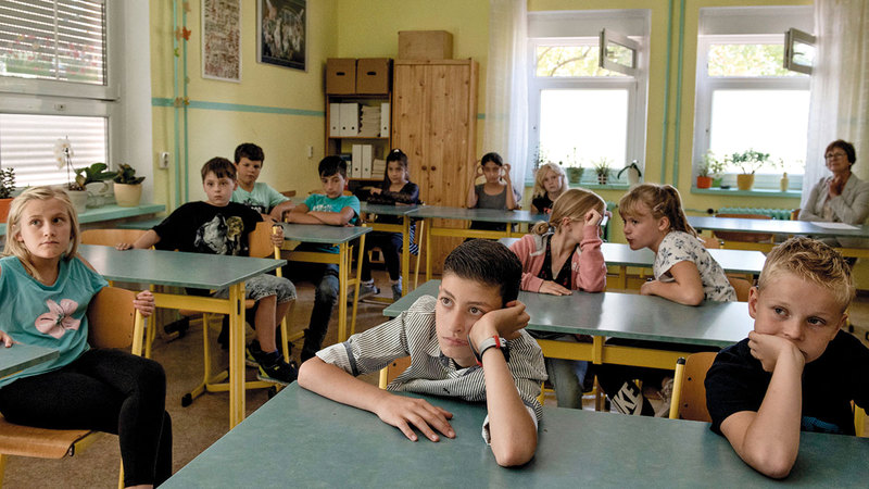 أطفال اللاجئين السوريين يتعلمون في المدارس الألمانية تسهيلاً لاندماجهم في المجتمع.  أرشيفية