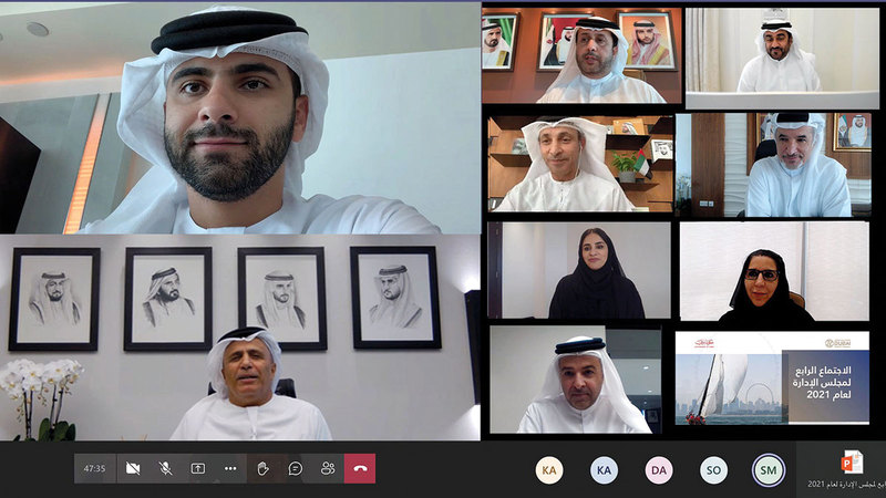 منصور بن محمد يترأس الاجتماع الرابع لمجلس إدارة مجلس دبي الرياضي.  من المصدر
