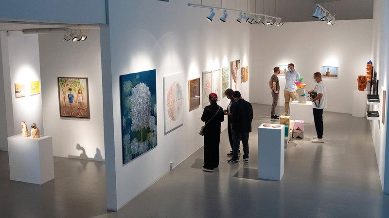 المعرض مستمر حتى السابع من سبتمبر المقبل.  تصوير: أحمد عرديتي