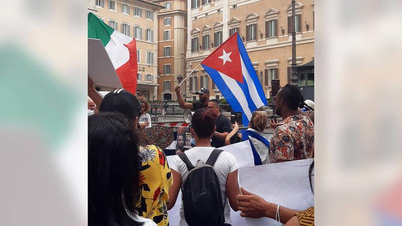 المتظاهرون الكوبيون قرروا أنه حان الآن زمن التغيير في بلدهم.   إي.بي.إيه