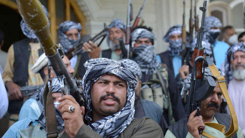 مسلّحو «طالبان» اكتسحوا نهاية الأسبوع الماضي سلسلة من المناطق في شمال أفغانستان.  أرشيفية