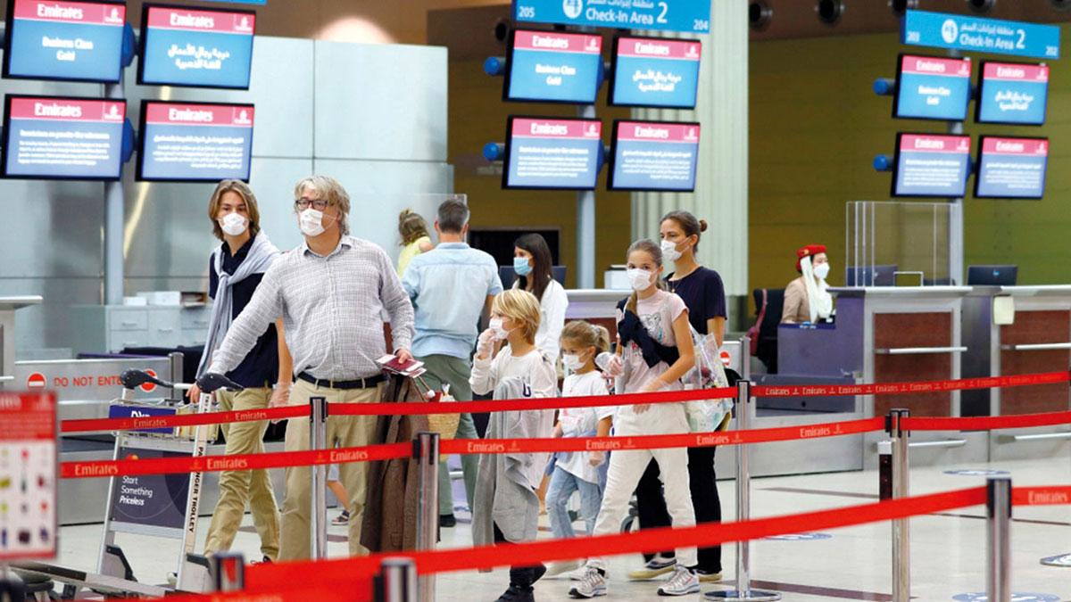 إجمالي المسافرين الدوليين بمطار دبي خلال يونيو وصل إلى 1.55 مليون مسافر.   أرشيفية