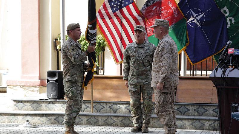 انسحاب القوات الأميركية اكتمل تقريباً من أفغانستان.  أ.ب