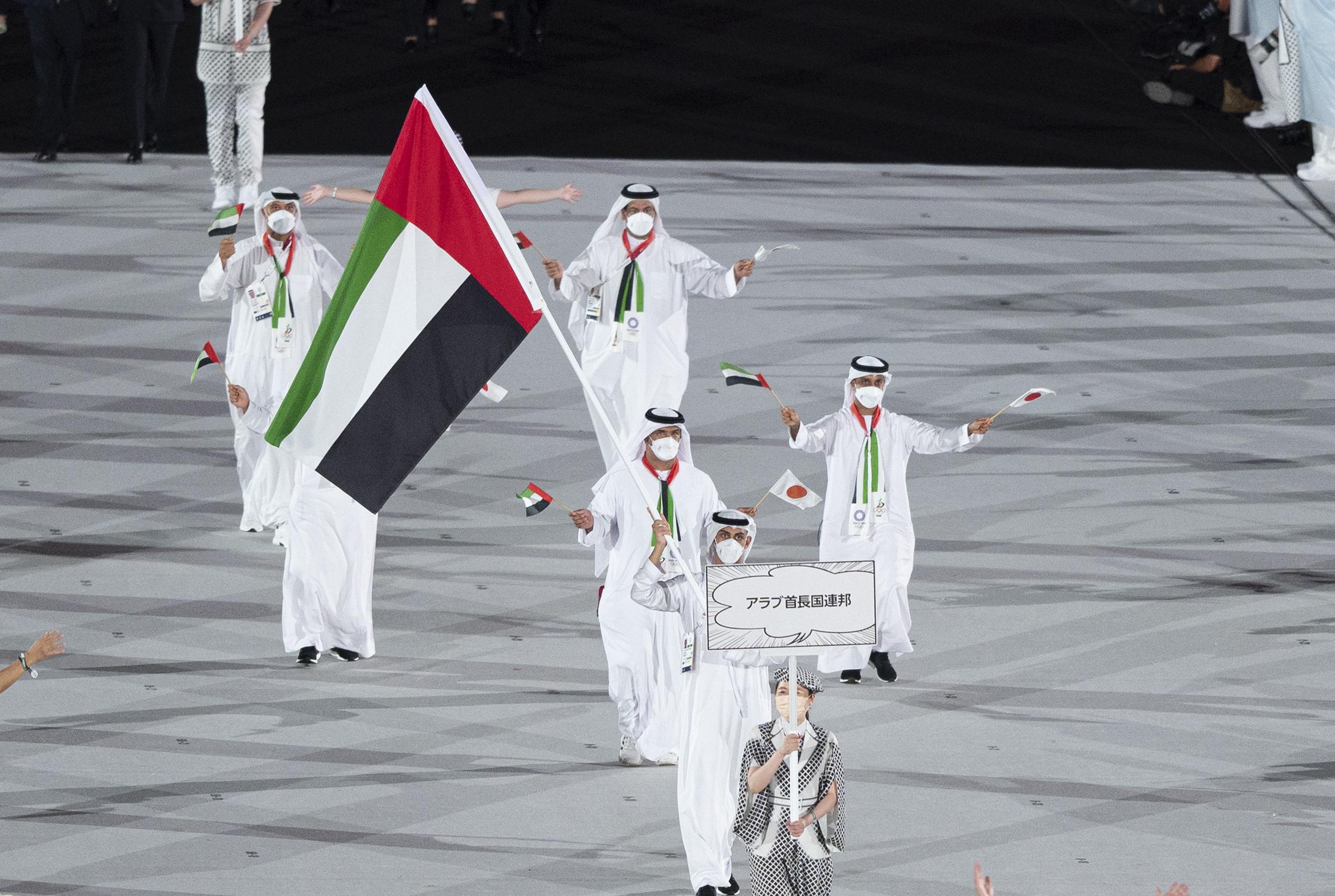 صورة المطروشي يحمل علم الإمارات في حفل افتتاح أولمبياد طوكيو (صور) – رياضة – محلية