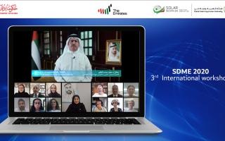 الصورة: «كهرباء دبي» تنظم افتراضياً ورشة عمل «مسابقة ديكاثلون الطاقة الشمسية»