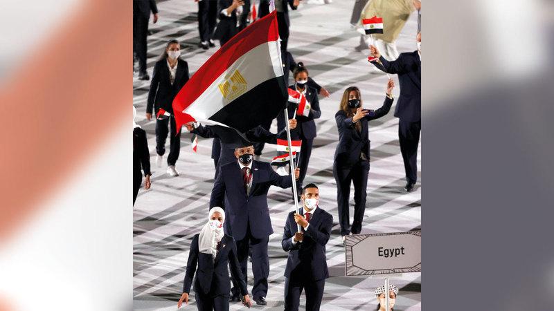 الوفد المصري.   رويترز
