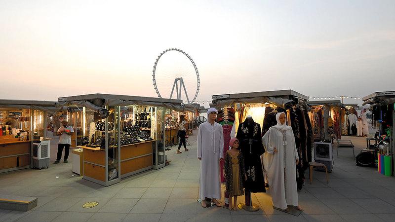«مفاجآت صيف دبي 2021» تقدم لسكان المدينة وزوارها عروضاً ترويجية متميزة وفعاليات وأنشطة ترفيهية.  تصوير: باتريك كاستيلو