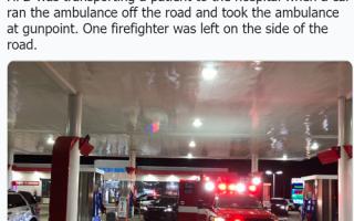 الصورة: يسرق سيارة إسعاف ومريض.. فيديو!