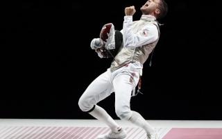 الصورة: احتفالات في الأولمبياد.. صور