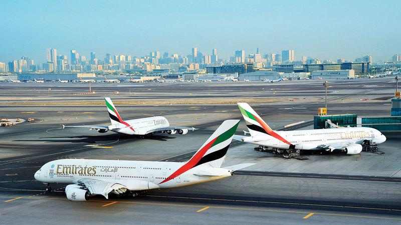 استئناف «طيران الإمارات» استخدام A380 سيدفع متوسط السعة إلى مستوى قريب من مستويات 2019.   أرشيفية