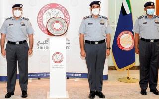 الصورة: قائد عام شرطة أبوظبي يكرّم القطاعات المتميزة في المجال الرياضي