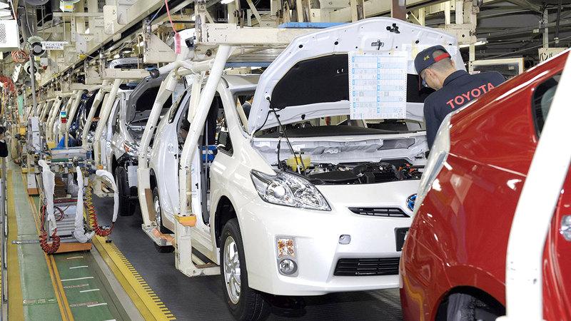 إنتاج «تويوتا» وصل إلى 831 ألفاً و533 سيارة.  غيتي