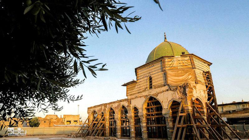 «جامع النوري الكبير» تعرض للتدمير على يد عناصر تنظيم داعش الإرهابي.  أرشيفية