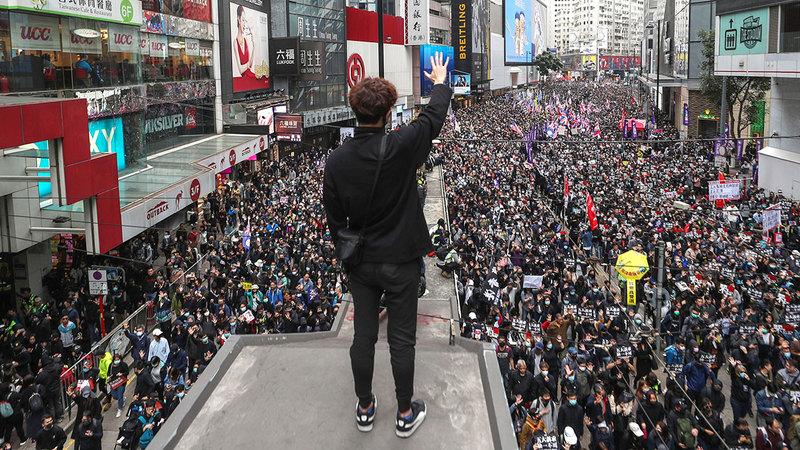 تظاهرات هونغ كونغ لن تتوقف قريباً.  أ.ف.ب