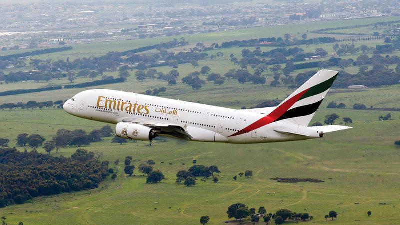 «طيران الإمارات» تتوقع نمواً في الطلب على دبي بالتزامن مع «إكسبو 2020 دبي».  أرشيفية