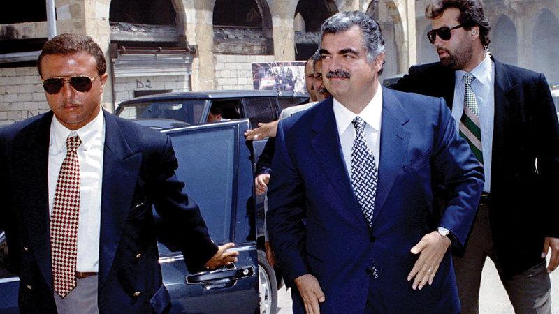 رئيس الوزراء الراحل رفيق الحريري اختار سلامة لرئاسة البنك المركزي.   من المصدر