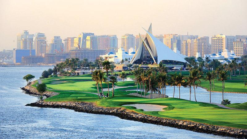 ملعب نادي خور دبي للغولف حيث ستقام البطولة المقبلة.  من المصدر