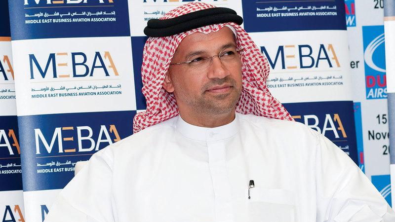 علي النقبي: «مبنى الطيران الخاص في (دبي الجنوب) مخصص للطائرات الخاصة، ويمتاز بطاقة استيعابية كبيرة».