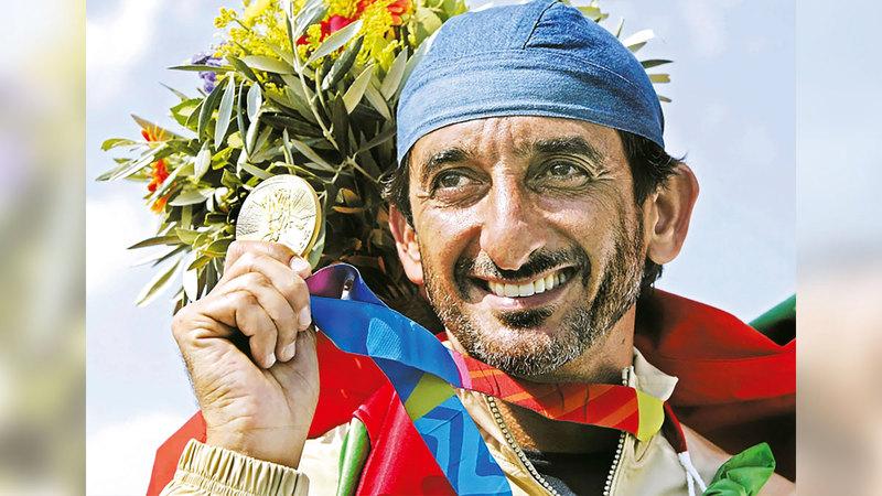أحمد بن حشر صاحب الميدالية الذهبية «أثينا 2004» الوحيدة في تاريخ رياضة الإمارات.   أرشيفية