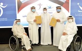 الصورة: اتفاقية تعاون بين «دبي لأصحاب الهمم» و«التحدي الكويتي» للمعاقين